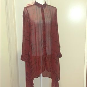 Abstract print shirt dress, size 6